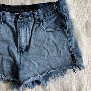 One Teaspoon  ///  high rise shorts